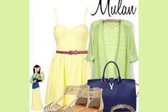 Si lo tuyo es algo clásico y de buen gusto, el look de Mulan es el perfecto.