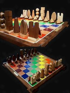 Handmade Chess Set on Etsy custom carved by JimArnoldsChessSets, $700.00