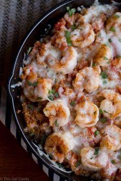 Cajun Shrimp and Quinoa Casserole - This Gal Cooks