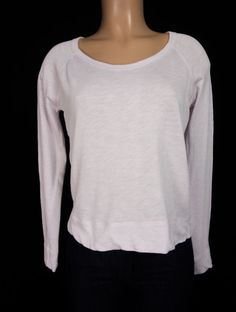 JAMES PERSE STANDARD Pullover 1 S Small Pink French Terry Crew Neck Sweatshirt…