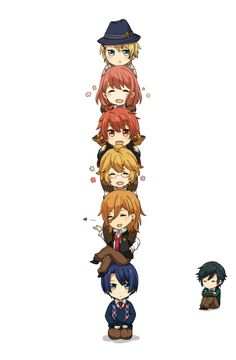 Syo Kurusu, Haruka Nanami, Otoya Ittoki, Natsuki Shinomiya, Ren Jinguji, Masato Hijirikawa and Tokiya Ichinose