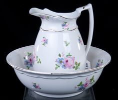 Bristol Porcelain Pitcher & Bowl