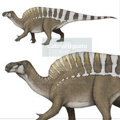 Undescribed Sail-backed Iguanodontian by https://kana-hebi.deviantart.com on @DeviantArt