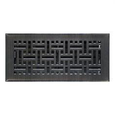 Accord Wicker Oil-Rubbed Bronze Steel Floor Register (Rough Opening: 10-in x 3-in; Actual: 11.5-in x 4.5-in)
