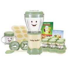 """Welcome to the Baby Bullet! Over the years, so many families were using the Magic Bullet to make homemade baby food that the Magic Bullet Development Team decided to create """"a complete baby food making system"""" and the Baby Bullet idea was born."""