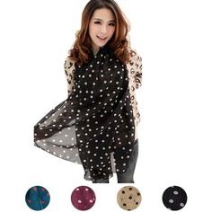 C$ 1.57 Cheap scarf navy, Buy Quality gift condom directly from China scarf crochet Suppliers:                                   Women Long Wrap Shawl Polka Dot Chiffon Scarf Scarves Stole