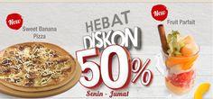 Diskon 50% di Pizza Hut Indonesia