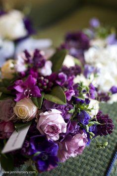 Wedding bouquet- Mixed Purple Bridal Bouquet