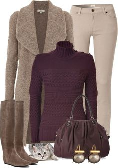 A fashion look from November 2012 featuring wool turtleneck sweater, joie coat and zipper skinny jeans. Browse and shop related looks. Fashion Casual, Casual Outfits, Cute Outfits, Fashion Outfits, Fashion Trends, Fashion Women, Women's Fashion, Fall Winter Outfits, Winter Wear