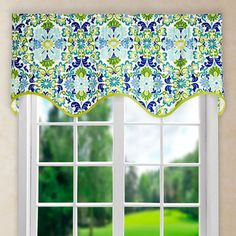 "Found it at Wayfair - Folk Damask 50"" Curtain Valance"