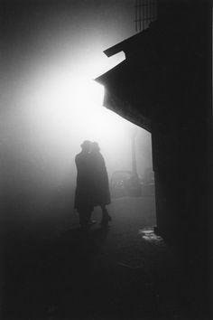 Street Corner, Paris, 1937 by Fred Stein