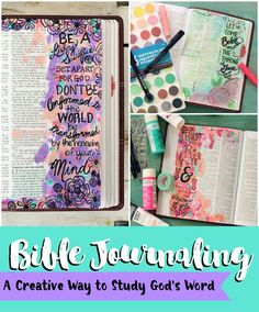 Bible Journaling: A Creative Way to Study God's Word www.pitterandglink.com