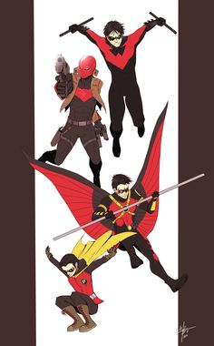Here is my fan art of four of my favorite Robins. enjoy and you can get prints and products of my artwork here : Robin : Brothers Batman Comic Art, Batman Comics, Dc Comics, Timothy Drake, Bat Boys, Comics Story, Batman Family, Teen Titans Go, Dc Heroes