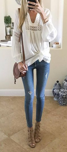 casual style addict top + bag + jeans
