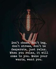 Don't chase, don't beg.. —via https://ift.tt/2eY7hg4