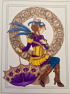 Creative Haven Steampunk Fashions Adult Coloring Book Review.