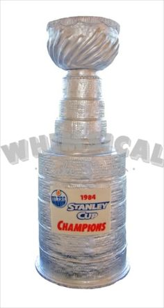 Full size replica of the Lord Stanley Cup.  Entirely edible and in honour of the 1984 edmonton oilers win!
