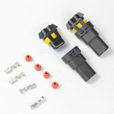 2sets 9005/HB3 9006/HB4 H10 Male + Female Connector Adapter HID Xenon Lamp Plug Socket #2047*2_2048*2 Price: USD 3.28 | United States