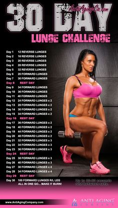 30 Day Lunge Challenge – USA Flag Co. – What can people do in 30 days Lunge Challenge, Push Up Challenge, 30 Day Workout Challenge, Weight Loss Challenge, Weight Loss Goals, Fitness Herausforderungen, Fitness Models, Target Fitness, Fitness Music