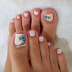 Toenail Art Designs, Toe Designs, Toe Nail Art, Toe Nails, Nail Salon Design, Manicure E Pedicure, Women's Feet, Summer Hairstyles, Wedding Nails