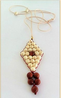 Necklace with howlite and goldstone Beaded necklace Long