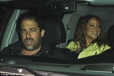 Homeward bound: Mariah was seen leaving with Brett following their meal at the celebrity haunt