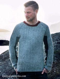 Men's jumper free knitting pattern