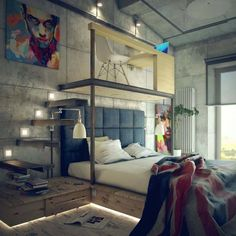 Industrial-Style-Bedroom-Design-Ideas-01-1-Kindesign.jpg 1,000×1,000 pixels