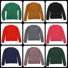 Μπλούζα πλεκτή με V, σε 9 χρώματα    http://www.azshop.gr/index.html?action=search=7486=7488
