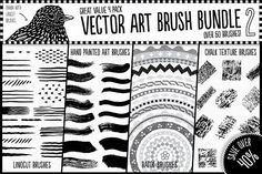 Ad: Vector Art Brush Bundle 2 by The Artifex Forge on Get all four vector artist tool sets for a bargain price with this great value pack! These are essential for any vector artist who is Vector Brush, Vector Art, Chalk Texture, Photoshop Brushes, Photoshop Actions, Business Illustration, Photoshop Illustrator, Graphic Design Projects, Photoshop Design