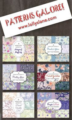 For pretty, affordable watercolor patterns visit www.lollyslane.com #patterns #watercolors #watercolorpattern #watercolorpaper #seamlesspatterns #floralpatterns Pastel Purple, Pink, Coral Pattern, Watercolor Pattern, Watercolors, Shabby, Scrapbook, Patterns, Paper
