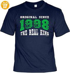 T-Shirt zum Geburtstag - Original since 1998 - The real King - Geburtstagsgeschenk - Fun shirt - Geschenkidee - navyblau (*Partner-Link)