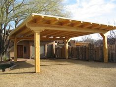 Pergola Attached To House Lights - - Covered Pergola Walkway - - Pergola Terrasse Boheme - Carport Plans, Carport Garage, Pergola Carport, Wood Pergola, Deck With Pergola, Diy Garage, Carport Ideas, Corner Pergola, Covered Pergola