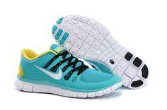 Nike Free 5.0+ Mens Blue Yellow Black