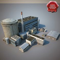 Nuclear Power Plant Model available on Turbo Squid, the world's leading provider of digital models for visualization, films, television, and games. Reactor Nuclear, Modern Tiny House, Blue Garden, Nuclear Power, Chernobyl, Civil Engineering, Cinema 4d, Model Trains, Pixel Art