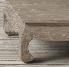 RH's 17th C. Scholar's Square Coffee Table:Inspired by 17th-century kang tables, popular during the Ming Dynasty as a place of rest and reflection, our version features a shaped apron and curved legs.