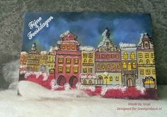 I'm dreaming of a white Christmas Christmas Door, White Christmas, Atc, Buildings, Stamps, Houses, Cards, Painting, Design