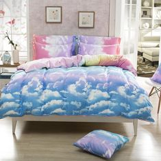 2015 Hot Bedding Duvet Cover King Size Sabanas Silk Bedding Pear Quilt Sets  Twin Full Queen