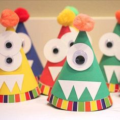 Monster or Alien Party Hats. You can make a few & kids can design their own Alien/Monster hat during the party