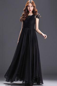 Lace Top Maxi Dress - OASAP.com