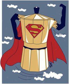 Supercafé, el auténtico superhéroe de cada mañana.