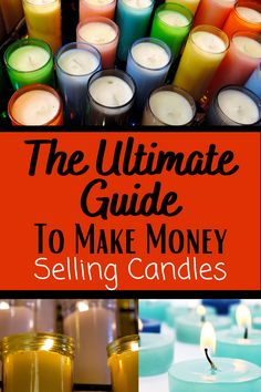 Money Making Crafts, Crafts To Make And Sell, How To Make Money, Diy Candles Easy, Diy Candle Crafts, Making Candles, Candle Making For Beginners, Homemade Scented Candles, Candle Making Business