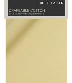 Shop the Robert Allen Drapeable Cotton Digital Fabric Book. Longer and more comprehensive color lines are the cornerstone of Robert Allen's large collection of drapeable cotton, part of our extensive Multi-Purpose Solids line. The natural, breathable and pliable fabric is offered in new custom #colors produced exclusively for Robert Allen, all of which tie into existing hues in the #ColorLibrary upholstery and Color Library Multi-Purpose #fabric collections.