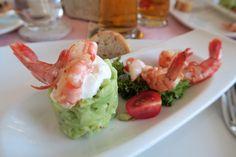 Avocado Tatar, Shrimp, Gremolata, Meat, Pink, Shrimp Appetizers, Leafy Salad, Berries, Fresh