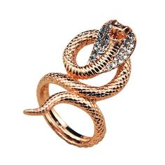 Rose Gold Snake Ring (Cobra Ring)
