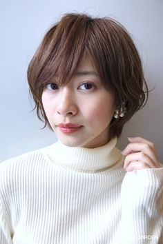 Pin on ボブ Tomboy Hairstyles, Short Bob Hairstyles, Japanese Hairstyle, Advanced Style, Perm, Short Cuts, Short Hair Styles, Hair Makeup, Hair Cuts