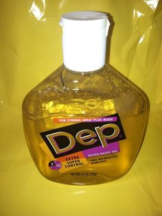 Vtg Dep Hair Styling Gel Yellow 90's  12 Oz Prop