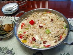 더운여름날 밥 빼고...(크림스파게티) :: 4월의라라 | 맛난 요리, 건강한 집밥
