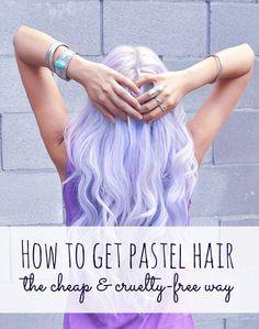 Get pastel hair! #crueltyfree #pastelhair #manicpanic