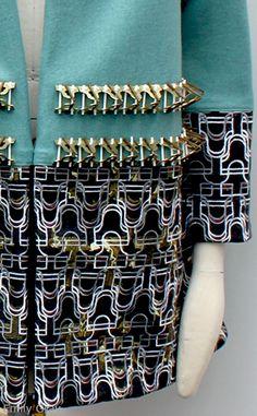 New Designers 2014 Textile Texture, Textile Fiber Art, Fabric Textures, Couture Details, Fashion Details, Fashion Design, Geometric Fashion, Colorful Fashion, Smart Textiles